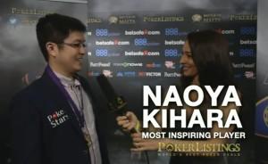 2013年には、PokerListings主催のMost Inspiring Player Awardを受賞。有名プロを押しのけての受賞自体も快挙だったが、ポーカーレポーターKara Scottのインタビューに(一部の)ポーカーファンが沸いた。